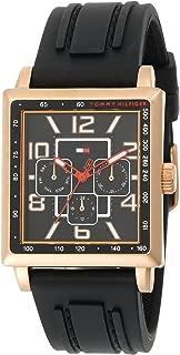 Men's 1790702 Rose Gold Plated Rectangular Case Sport Watch