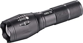 Q-Connect Linterna Telescópica Aluminio Modo Alumbrado Alto Medio Bajo Estroboscopio SOS Apagado 3 pilas AAA