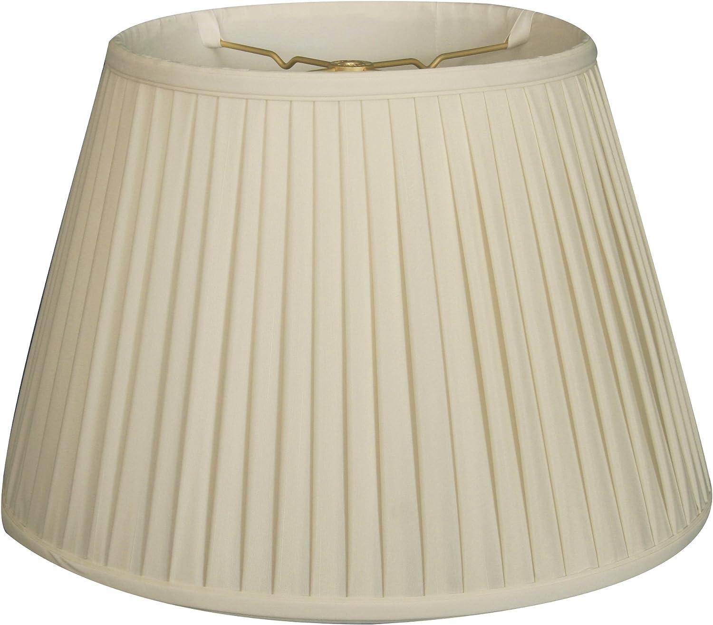 Royal Designs Empire Side Pleat Basic Lamp Shade, Eggshell, 11 x 18 x 12
