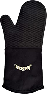 Jim Beam JB0205 Soft and Comfortable Black Silicone Grilling Mitten, Large
