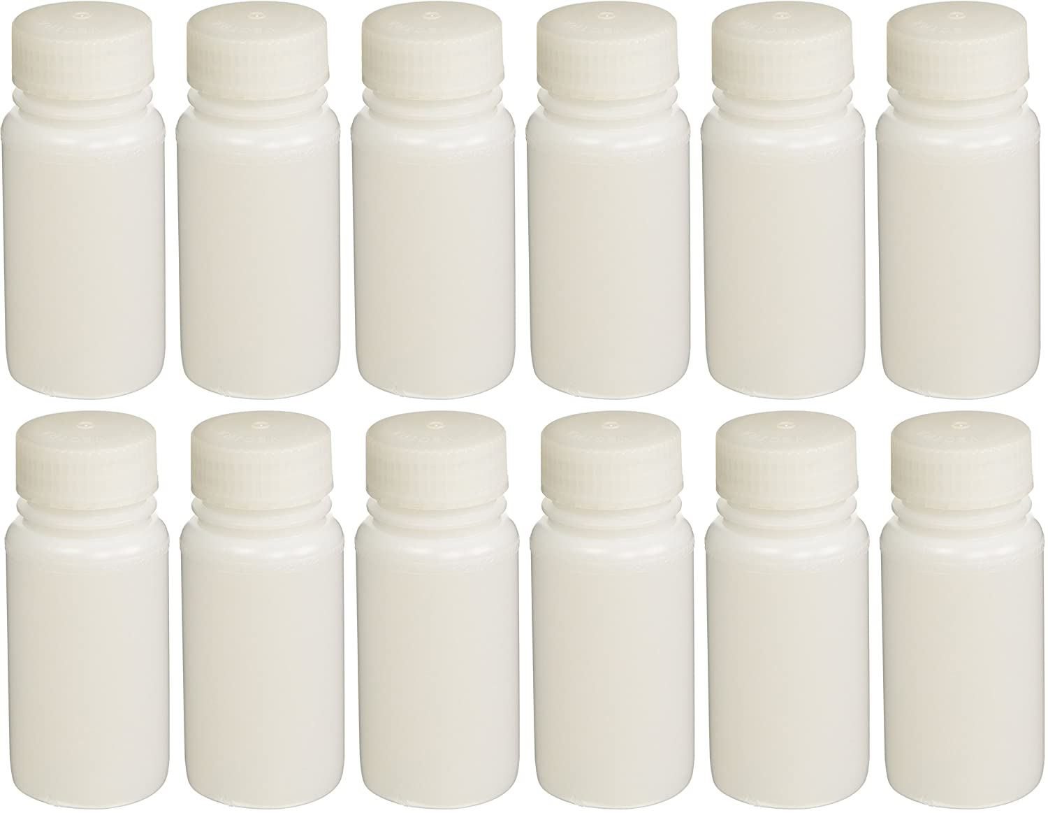 HDPE with PP Closure 12//Pack Wide Mouth Round 30mL labForce 1155L44 Bottle