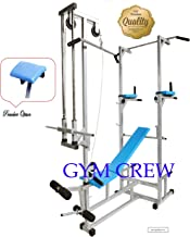 GymCrew ABS Tower with Multipurpose Muscle Gaining 20 in 1 Gym Bench (Rectangle Pipe 2x2 INCH) (Silver)