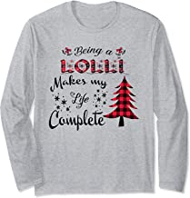 Being a LOLLI makes my life complete - Red Plaid Xmas gift  Long Sleeve T-Shirt
