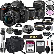 $899 » Nikon D5600 DSLR Camera with 18-55mm VR + Tamron 70-300mm + 128GB Card, Tripod, Flash, ALS Variety Lens Cloth, and More