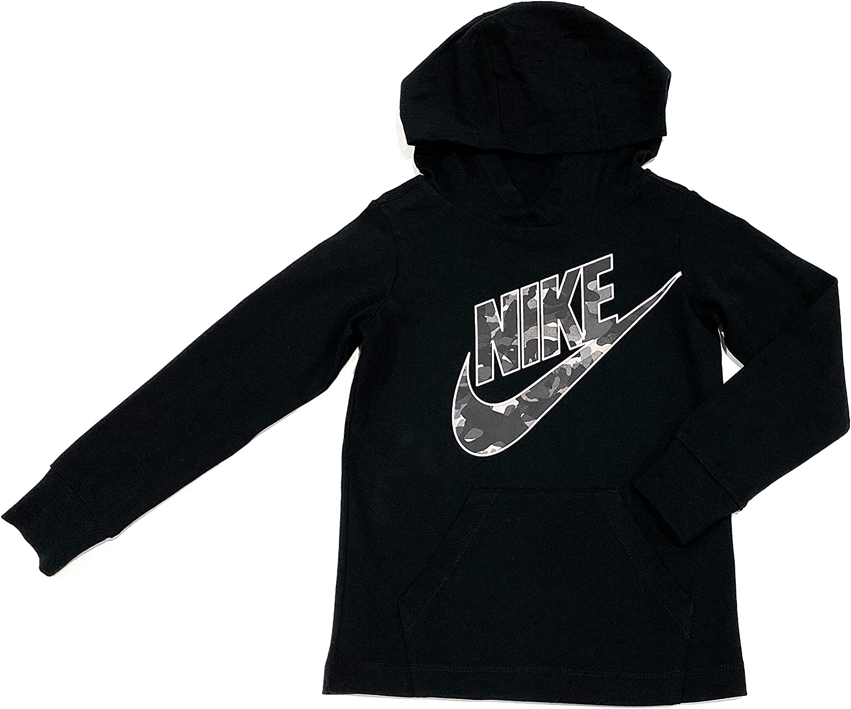 Nike Boys Cotton Hoodie-Preschool, Size 4, Black
