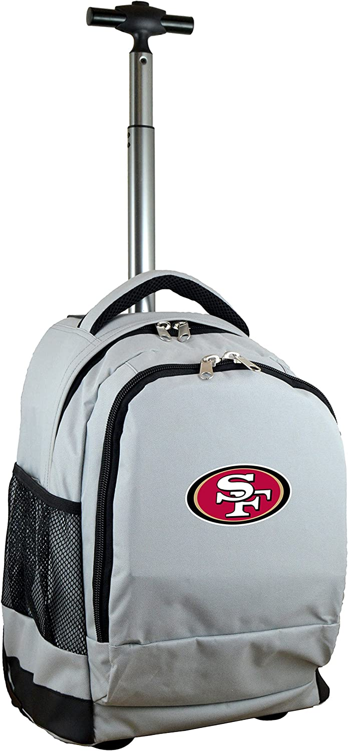 NFL UnisexAdult NFL Expedition Wheeled Backpack, 19inches, Grey