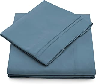 Queen Size Bed Sheets - Peacock Blue Luxury Sheet Set - Deep Pocket - Super Soft Hotel Bedding - Cool & Wrinkle Free - 1 Fitted, 1 Flat, 2 Pillow Cases - Periwinkle Queen Sheets - 4 Piece