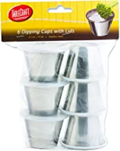 Tablecraft 2.5 oz Dipping Cups with Lids, 2.5-Ounce (H5069)