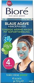 Bioré Verwarmend tonaarde-gezichtsmasker met blauwe aging en bakpoeder voor gemengde huid, 28 g