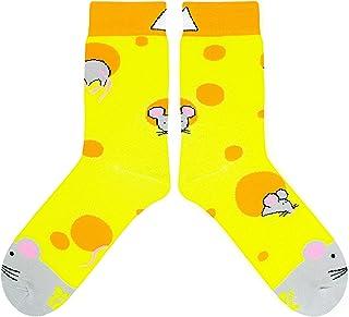 4153e52f32184 CUP OF SOX Chaussettes humoristiques colorées pour homme et femme – Cadeau  de haute qualité –