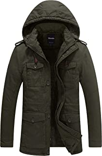 Men's Winter Thicken Puffer Coat with Removable Hood Jacket