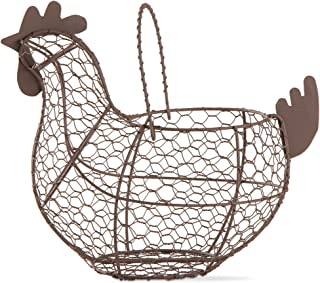 TAG 204829 Farmhouse Chicken Wire Basket, 9.6 x 11.25 x 6.7, Antique Finish