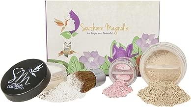 4pc Essential Beauty Mineral Makeup Minimalist Kit | FAIR Matte Foundation | Organic & Pure | Toxin Free Cosmetics
