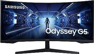 "Samsung G Series C34G55TWWR - Monitor gaming curvo de 34"" UWQHD (3440x1440, 165 Hz, 1 ms, 1000R, HDR10, FreeSync Premium, LCD) Negro"