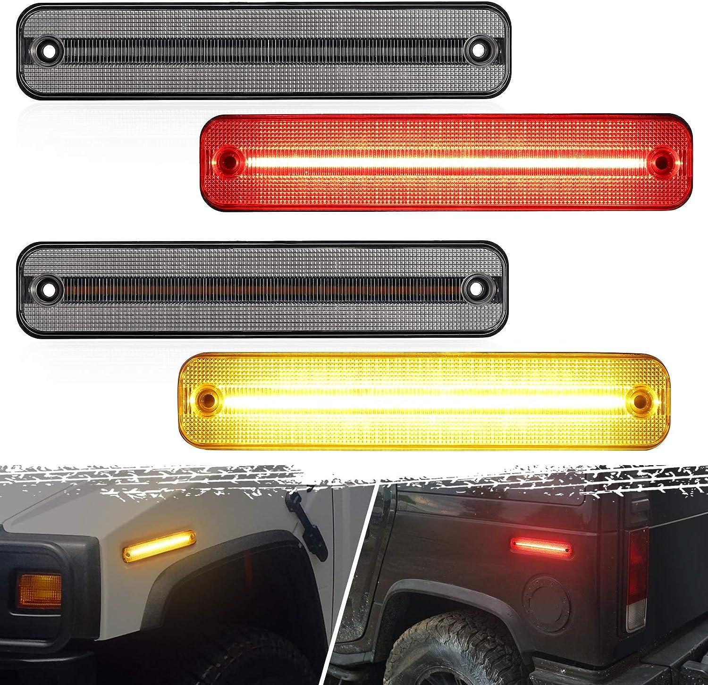 Partsam 4Pcs Full LED Side Marker Great interest Hum Max 90% OFF With Lights kit Compatible