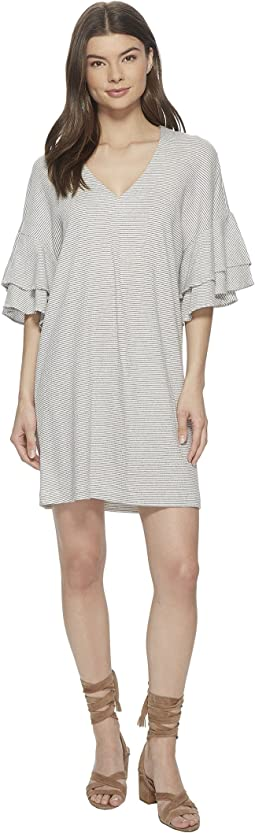 Lucky Brand - Stripe Ruffle Mini Dress