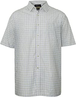 Walker and Hawkes - Mens Short Sleeved Cotton Country Check Easy Care Shirt