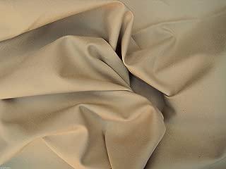 Khaki Cotton Twill Spandex Fabric by the Yard 4 Way Stretch (Chino Material)