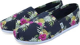 The Bondi Shoe Club Womens Colourful Vegan Slip On Canvas Espadrille Shoes