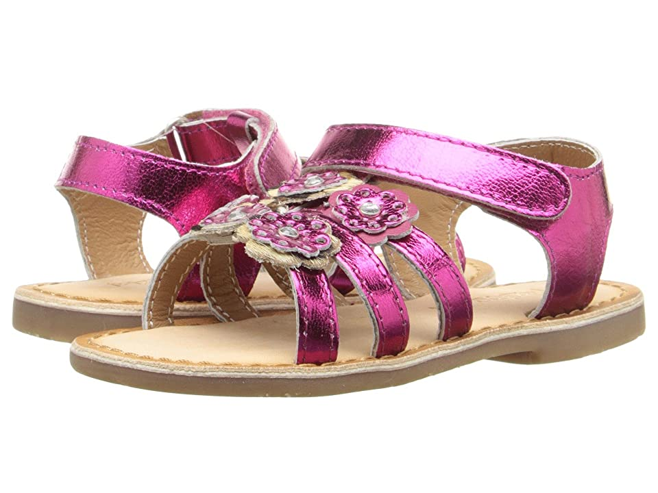 Pazitos Mini Burst Sandal (Toddler) (Fuchsia) Girls Shoes