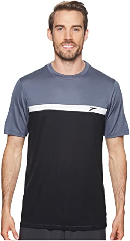 Speedo - Color Block Short Sleeve Swim Tee