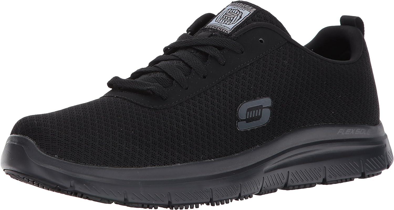 Skechers for Work Work Work herrar Flex Advance Bendon Work skor,svart,7 M USA  utlopp på nätet