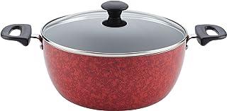 Farberware Aluminum Nonstick Casserole Dish/Casserole Pan - 5.5 Quart, Red