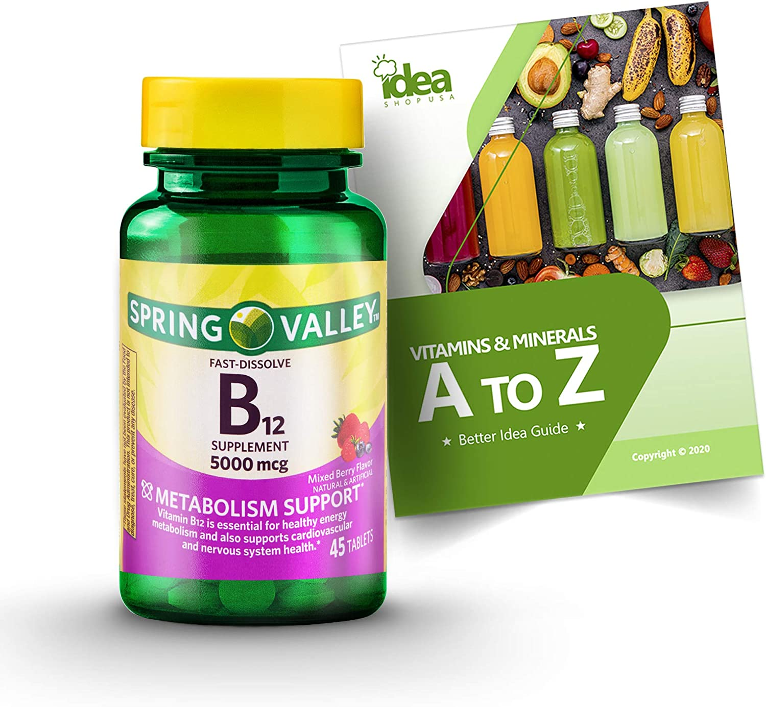 Vitamin Luxury goods B12 Fast Dissolve Large discharge sale Tablets by Valley Spring mcg à + 5000