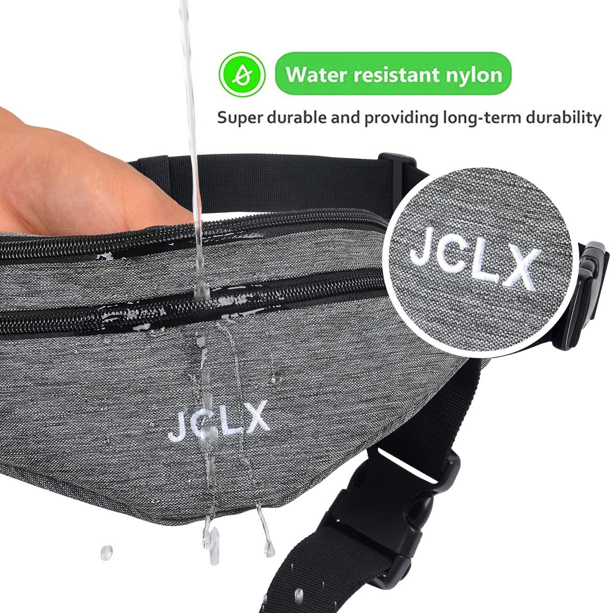 JCLX Fanny Pack Running Waist Pack Sport Workout Large Capacity Polyester Water Resistant Adjustable Waist Bags for Men /& Women in Running Cycling etc iPhone /& Android Gym Hiking