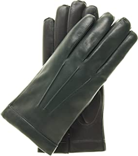 Fratelli Orsini Men's Italian Cashmere Lined Touchscreen Leather Gloves