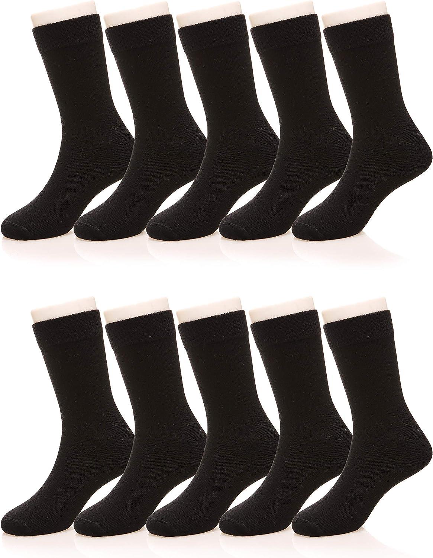 Kids Boy Girls Classics Athletic Socks Little Toddlers Casual School Uniform Sports Soft Breathable Cotton Crew Socks