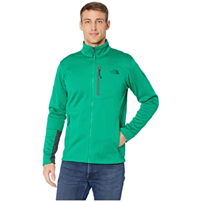 The North Face Canyonlands Full Zip (Primary Green Heather) Men