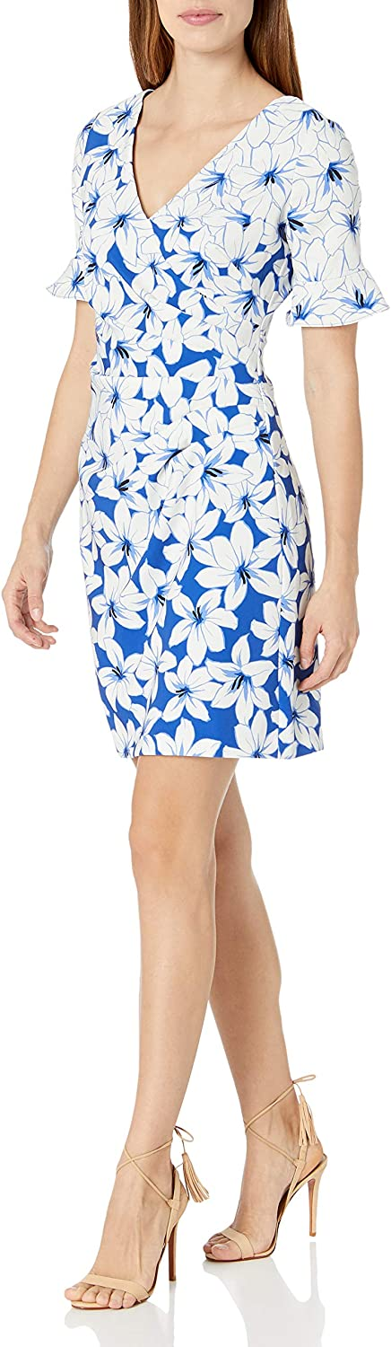 Adrianna Papell Women's Graphic Lily A-line Dress