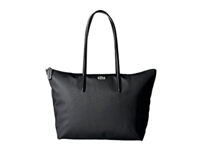 Lacoste L.12.12 Concept Large Shopping Bag (Black 1) Tote Handbags
