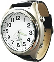 Atomic Talking Watch for The Blind with Extra Spare Battery and Microfiber Cleaning Cloth (Black Leather Central Standard Time)