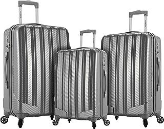 Rockland Barcelona Hardside 9-Piece Travel Gear Luggage Set