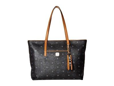 MCM Anya Shopper Shopper Medium (Black) Handbags