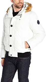 white quilted coat