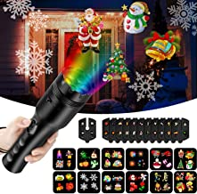 COMLIFE Christmas Projector Lights, 2 in 1 Holiday Decoration Light&Handheld Flashlight with 12 Slides and Tripod, Battery Operated Kids' Night Light,Easter Birthday Xmas Gift for Kids
