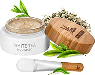 White Tea Mud Mask - 100 ml, Antioxidant Facial Treatment, Smoothes Fine Lines, Wrinkles, Deep Cleanse, Detoxifies Face, M...