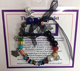 The Glory Bracelet or the Easter Bracelet - Christian faith bracelet, the story of Jesus's life, birth through resurrection, told in beads and charms
