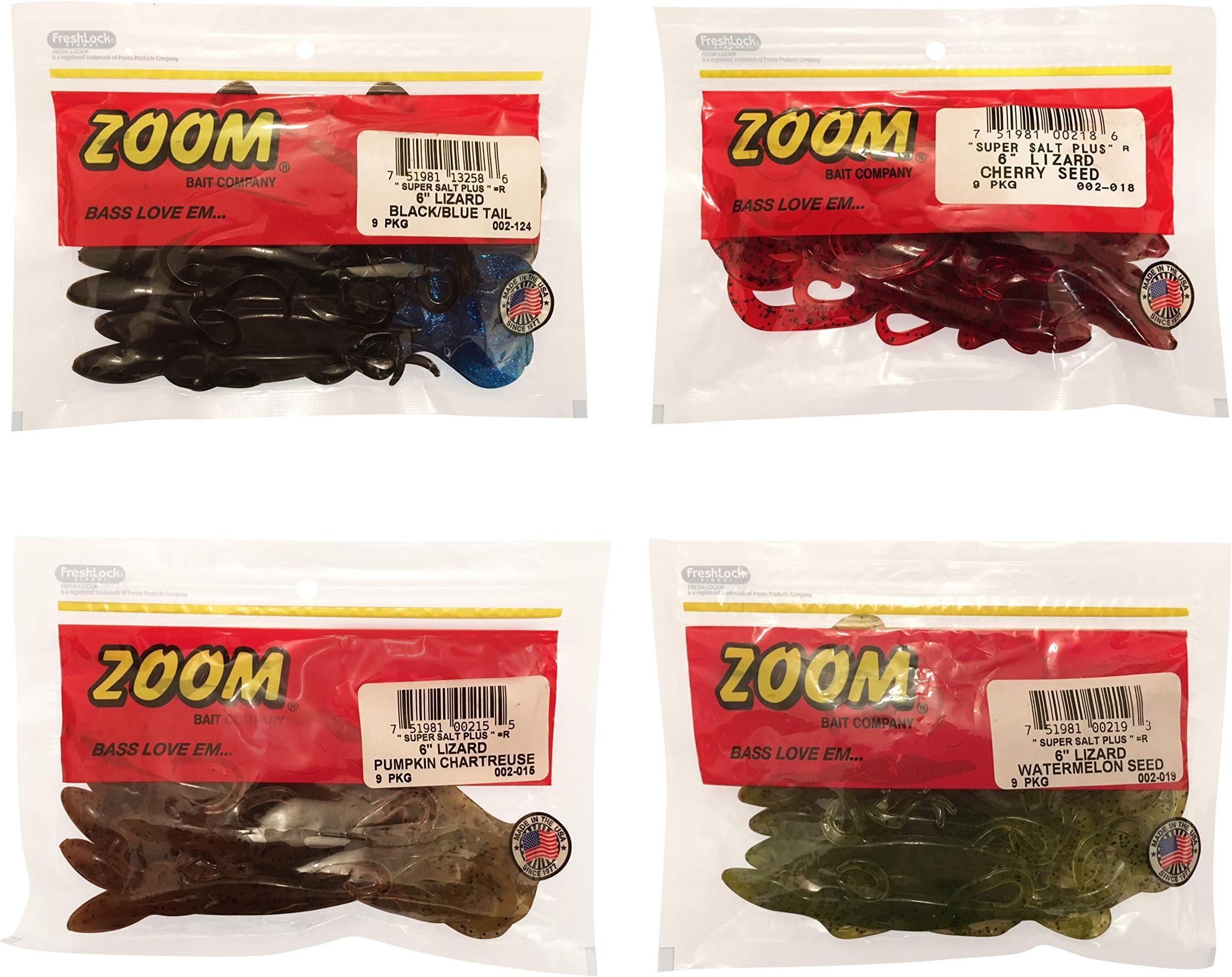 """Zoom 6"""" Mini Lizard Salamander Soft Plastic Fishing Lure 3pk Pumpkin Color Lures"""