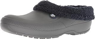 Crocs Men's and Women's Blitzen III Clog   Indoor or Outdoor Warm and Fuzzy Shoe