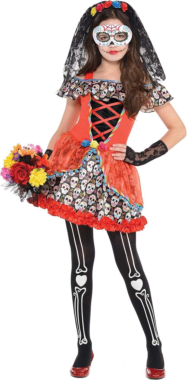 Sugar Skull Senorita New Shipping Free Miami Mall Child - Medium Costume