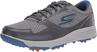 Men's Torque Sport Fairway Relaxed Fit Spiked Golf Shoe, Charcoal Blue, 10 M US