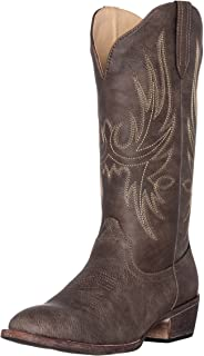 Womens Western Cowgirl Cowboy Boot, Cimmaron Round Toe by Silver Canyon