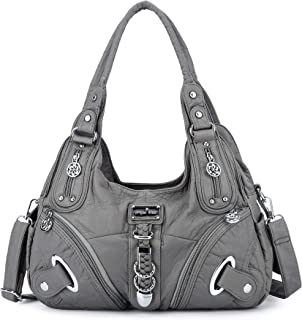 Sponsored Ad - Women Fashion Washed Synthetic Leather Handbags Tote Bag Top Handle Satchel Purse