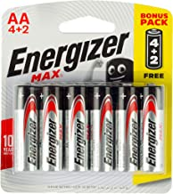 Energizer Max Alkaline AA Batteries - Pack of 6