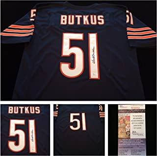 Dick Butkus Chicago Bears Signed Autograph Blue Jersey JSA COA