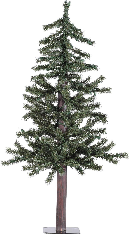 Vickerman 3' Natural Alpine Artificial Christmas Tree, Unlit - Faux Christmas Tree - Seasonal Indoor Home Decor